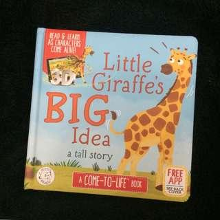 Buku Ajaib Hippo Little Giraffe's Big Idea 3D