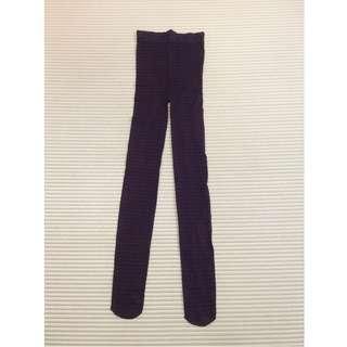 [Buy 3 for RM15] Purple-black plaid sheer stocking