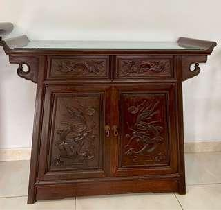🚚 Antique Cabinet / Antique Table with glass top