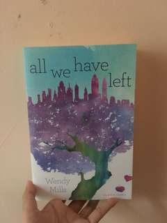 novel english - all we have left