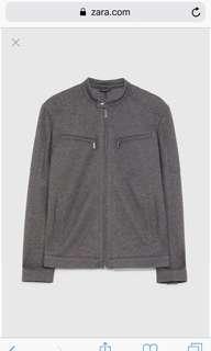Pique biker jacket zara man grey size M New Original