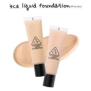 3CE Liquid Foundation