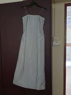 f.w.s. Silver Maxi Dress