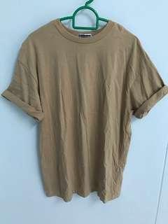 Beige Oversized T Shirt