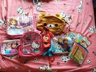 Girl bags and phonics readers