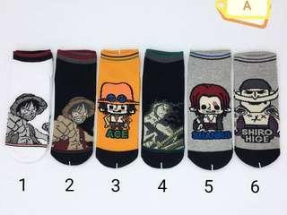 🚚 Design 011 Japanese Manga One Piece Socks