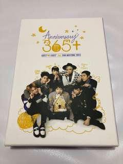 GOT7 Official Anniversary 365+ 1st Fanmeeting 2015 DVD + Photobook