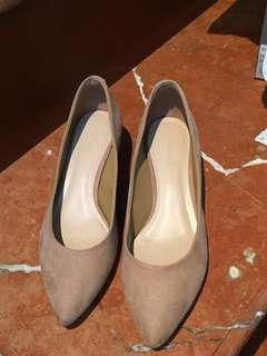 Charles & Keith Pointed Pumps - Beige (BOX)