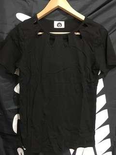 黑色小性感上衣
