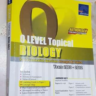 O level Biology TYS Topical 2003 - 2012