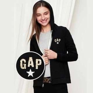 🚚 Gap 閃亮星星徽章設計連帽運動外套 休閒外套 連帽外套