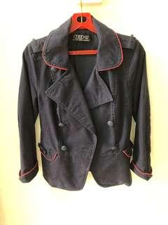 56016e57 Navy velvet blazer Balmain x H&M, Women's Fashion, Clothes ...