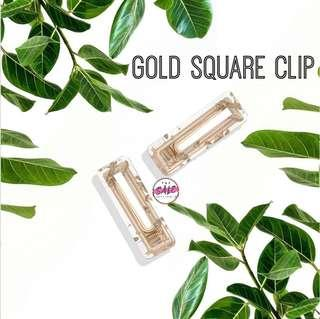 Gold Square Hair Clip ♡
