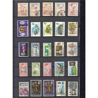 Bermuda 25 Different Stamps (Used)