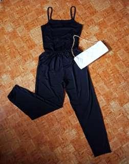 Backless Spag-strap Jumpsuit