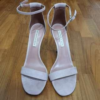 Charles & Keith Ankle Strap Open Toes Stiletto High Heels
