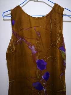 🚚 古著  紫花洋裝