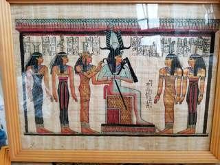 Egyptian papyrus 埃及紙莎草畫handmade