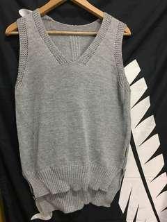 灰色針織背心