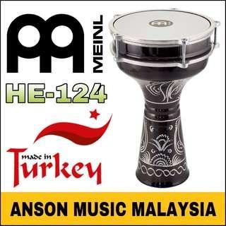 Meinl HE-124 Aluminum Darbuka, Hand-Engraved