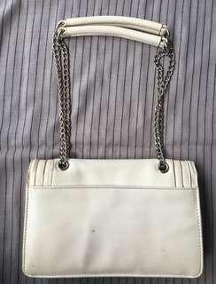 Daphne White Sling Handbag