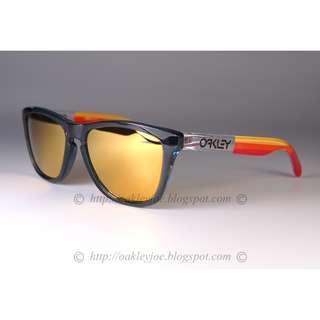 🚚 Oakley Custom Frogskins grip collection + 24k iridium sunglass shades