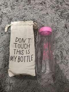 Dont touch my bottle tumbler tempat minum