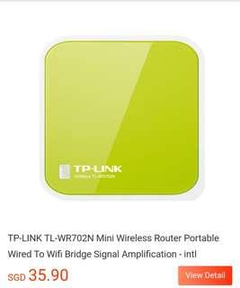 🚚 TP-LINK TL-WR702N 150M Mini Portable USB WiFi Wireless Router for Laptop