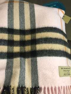 Burberry 頸巾 (pink)(cashmere)(have box)(bought last year)