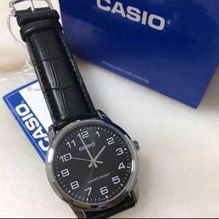Casio Leather strap Mens Watch!! BNIB!! Instocks!