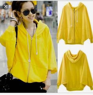 Yellow Jacket with Bat-wing sleeves