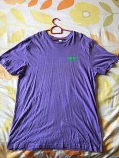 🚚 H&M purple oversized bf tee