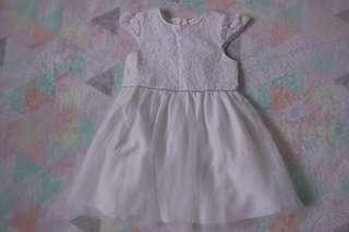 PRIMARK White Lace Tulle Dress