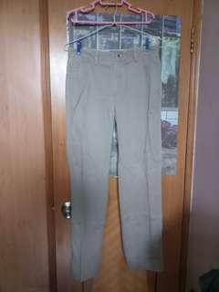 清貨 減價 男裝 卡其色長褲 日常 工作 返工 尺寸: 31寸腰圍,102.5褲長
