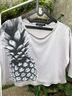 pineapple crop tee