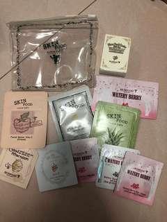 Skinfood samples goodie bag