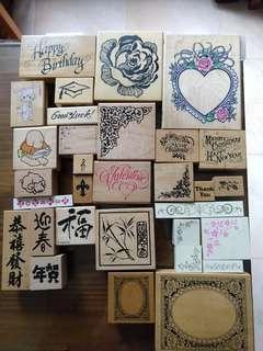 手作印章 craft stamps made in USA