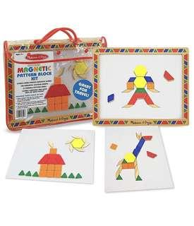 🚚 BN Melissa and Doug Magnetic Pattern Blocks (120 Magnetic Blocks in a reusable carrying case)