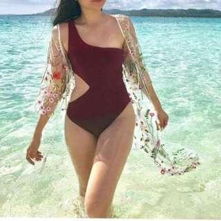 One side one piece swimsuit🔥