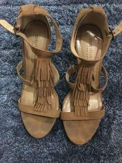 Brown Tassel Heels