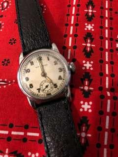 Vintage Wittnauer WW2 Military Style Stainless Steel Watch