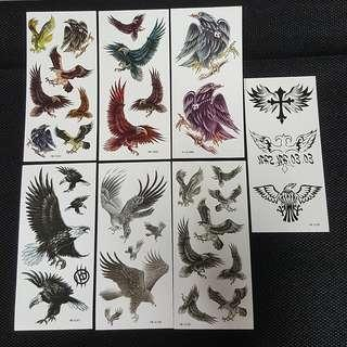 Temporary Tattoo ↪ Eagle Themed 💱 $2.00 Each Sheet/ $5.00 for 3 Sheets
