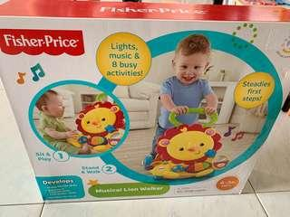 🚚 👶🏻Fisher Price Musical Lion Walker