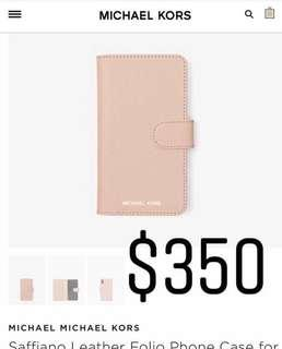 🇨🇦加拿大代購🇨🇦Micheal Kors iPhone X 真皮手機套