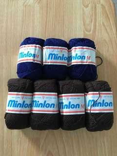 Minlon yarn for crochet/knitting and other crafts.