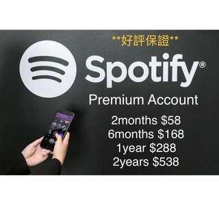 Spotify premium account 音樂程式 會籍 music player 2-24月 訂閱 Apple Android