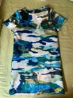 🚚 Army Print Shift Dress