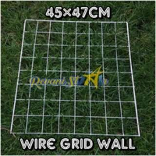 Wire grid wall 45cm x 47cm, set of 2 (For Rental)