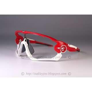 🚚 Oakley Custom Jawbreaker Frame Only redline + white icon