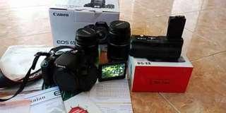 Kamera canon eos 650d kit fullset
